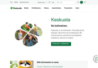 First screen capture by European Democracy Consulting's Logos Project for Keskusta