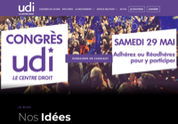 First screen capture by European Democracy Consulting's Logos Project for Union des Démocrates et Indépendants