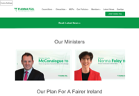 First screen capture by European Democracy Consulting's Logos Project for Fianna Fáil