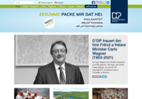 First screen capture by European Democracy Consulting's Logos Project for Demokratesch Partei