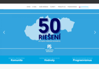 First screen capture by European Democracy Consulting's Logos Project for Progresívne Slovensko