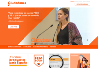 First screen capture by European Democracy Consulting's Logos Project for Ciudadanos