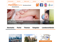 First screen capture by European Democracy Consulting's Logos Project for Familien-Partei Deutschlands