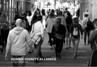 First screen capture by European Democracy Consulting's Logos Project for Human Dignity Alliance - Comhaontas Dhínit an Duine