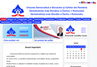 First screen capture by European Democracy Consulting's Logos Project for Democratic Union of Slovaks and Czechs of Romania