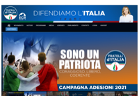 First screen capture by European Democracy Consulting's Logos Project for Fratelli d'Italia