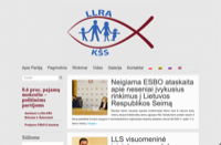 First screen capture by European Democracy Consulting's Logos Project for Electoral Action of Poles in Lithuania – Christian Families Alliance