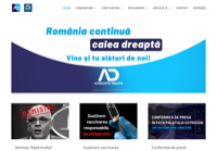 First screen capture by European Democracy Consulting's Logos Project for Alternativa Dreaptă - Right Alternative