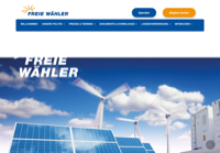 First screen capture by European Democracy Consulting's Logos Project for Freie Wähler