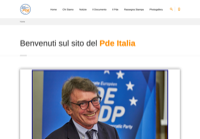 First screen capture by European Democracy Consulting's Logos Project for Partito Democratico Europeo Italia