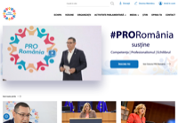 First screen capture by European Democracy Consulting's Logos Project for Pro România