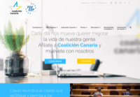 First screen capture by European Democracy Consulting's Logos Project for Coalición Canaria