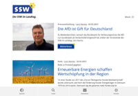 First screen capture by European Democracy Consulting's Logos Project for Südschleswigschen Wählerverbands
