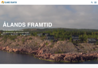 First screen capture by European Democracy Consulting's Logos Project for Ålands Framtid