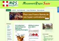 First screen capture by European Democracy Consulting's Logos Project for Mouvement région Savoie