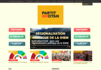 First screen capture by European Democracy Consulting's Logos Project for Partit Occitan