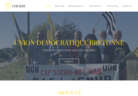 First screen capture by European Democracy Consulting's Logos Project for Union Démocratique Bretonne