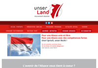 First screen capture by European Democracy Consulting's Logos Project for Unser Land
