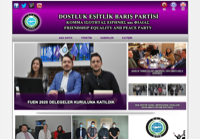 First screen capture by European Democracy Consulting's Logos Project for Dostluk Esitlik Baris Partisi