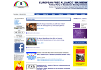 First screen capture by European Democracy Consulting's Logos Project for Rainbow – Vinozhito