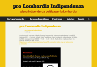 First screen capture by European Democracy Consulting's Logos Project for Pro Lombardia Indipendenza