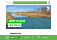 First screen capture by European Democracy Consulting's Logos Project for Zelení