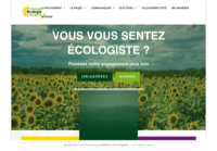 First screen capture by European Democracy Consulting's Logos Project for Europe Ecologie - Les Verts