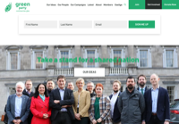 First screen capture by European Democracy Consulting's Logos Project for Irish Green Party / Comhaontas Glas