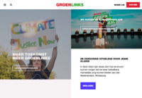 First screen capture by European Democracy Consulting's Logos Project for GroenLinks