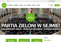 First screen capture by European Democracy Consulting's Logos Project for Partia Zieloni