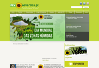 First screen capture by European Democracy Consulting's Logos Project for Partido Ecologista Os Verdes