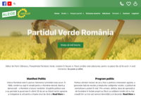 First screen capture by European Democracy Consulting's Logos Project for Partidul Verde