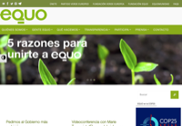 First screen capture by European Democracy Consulting's Logos Project for Verdes Equo