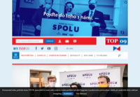 First screen capture by European Democracy Consulting's Logos Project for TOP 09