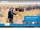Full webpage capture by European Democracy Consulting's Logos Project for Christlich-Soziale Union in Bayern