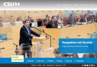 First screen capture by European Democracy Consulting's Logos Project for Christlich-Soziale Union in Bayern