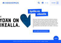 First screen capture by European Democracy Consulting's Logos Project for Kansallinen Kokoomus