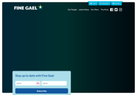 First screen capture by European Democracy Consulting's Logos Project for Fine Gael