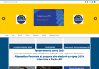 First screen capture by European Democracy Consulting's Logos Project for Alternativa Popolare