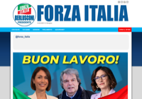 First screen capture by European Democracy Consulting's Logos Project for Forza Italia