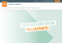 First screen capture by European Democracy Consulting's Logos Project for Chrëschtlech Sozial Vollekspartei