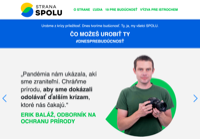 First screen capture by European Democracy Consulting's Logos Project for SPOLU