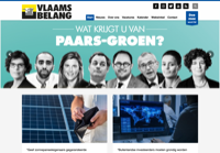 First screen capture by European Democracy Consulting's Logos Project for Vlaams Belang