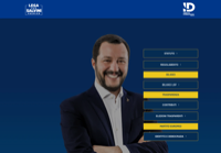 First screen capture by European Democracy Consulting's Logos Project for Lega Per Salvini Premier