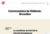 First screen capture by European Democracy Consulting's Logos Project for Communistes Wallonie-Bruxelles