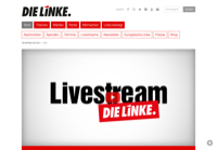 First screen capture by European Democracy Consulting's Logos Project for Die Linke