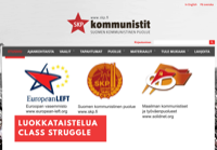 First screen capture by European Democracy Consulting's Logos Project for Suomen Kommunistinen Puolue