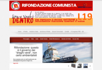 First screen capture by European Democracy Consulting's Logos Project for Rifondazione Communista