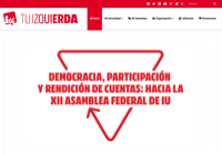 First screen capture by European Democracy Consulting's Logos Project for Izquierda Unida
