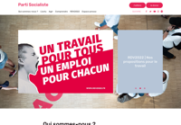 First screen capture by European Democracy Consulting's Logos Project for Parti Socialiste
